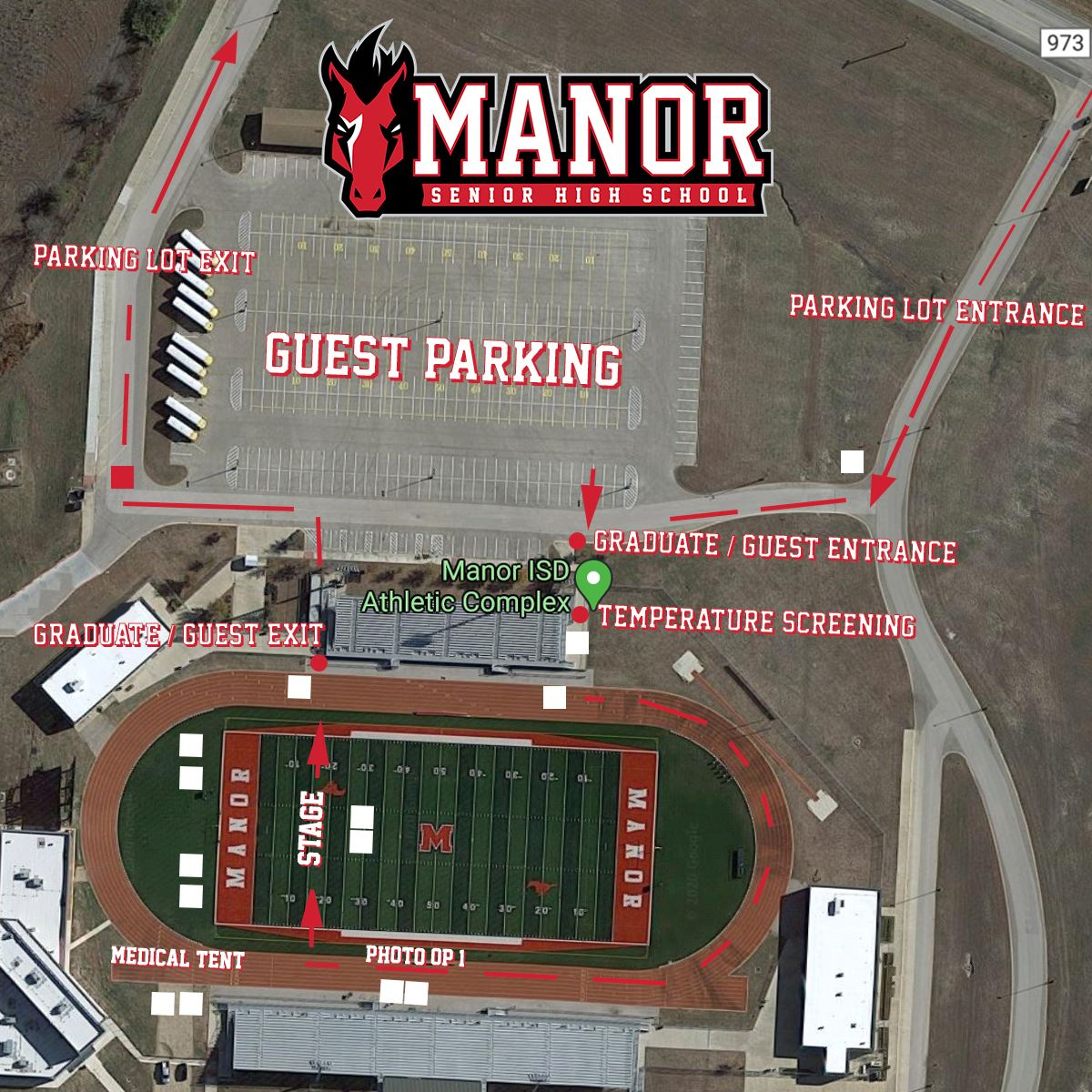 2020 Manor Senior High School and MEA Modified In-Person Graduation at Manor Athletic Complex