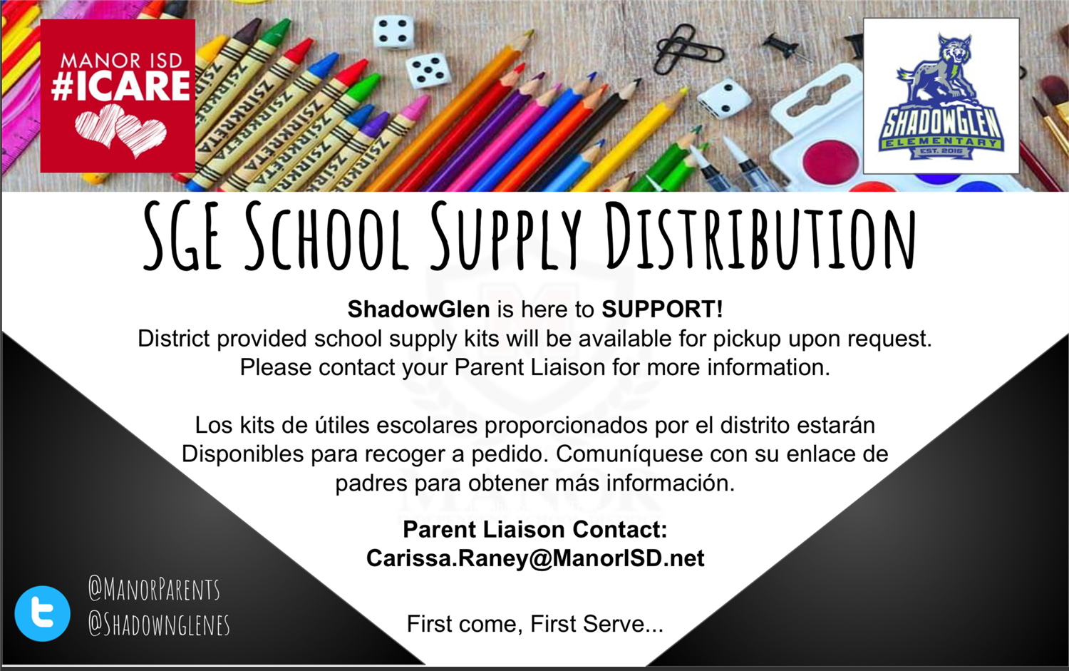 SGE School Supply Distribution