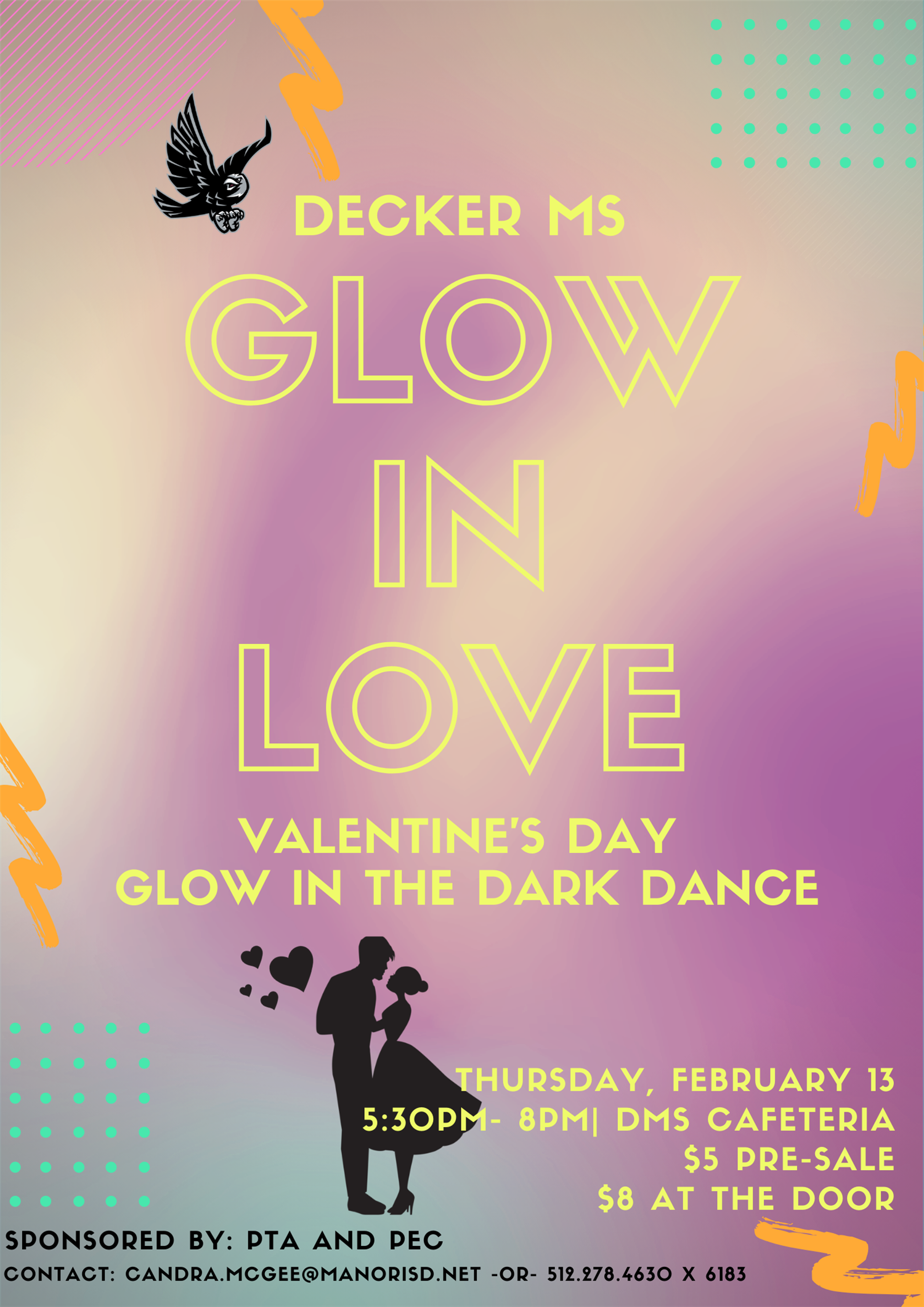 Decker MS Glow in Love Valentine's Dance