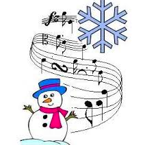Snowman with music notes