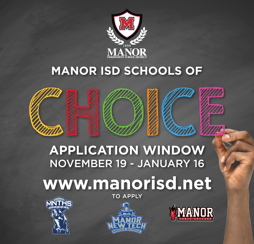 School of choice with 3 selected schools and rainbow letters