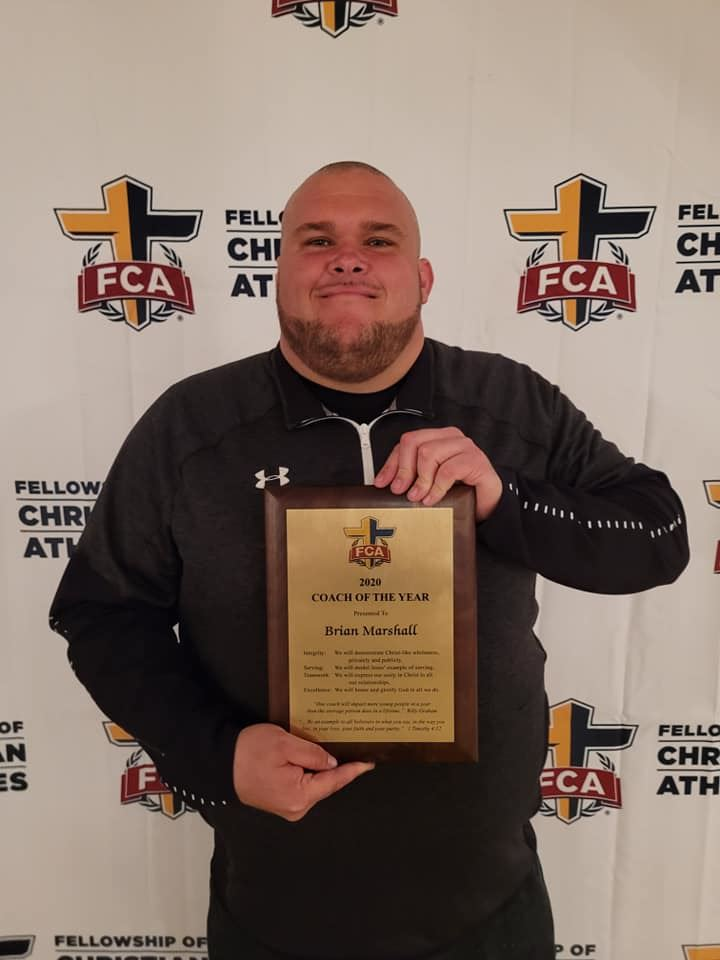 Congratulations Coach Marshall - FCA Coach of the Year