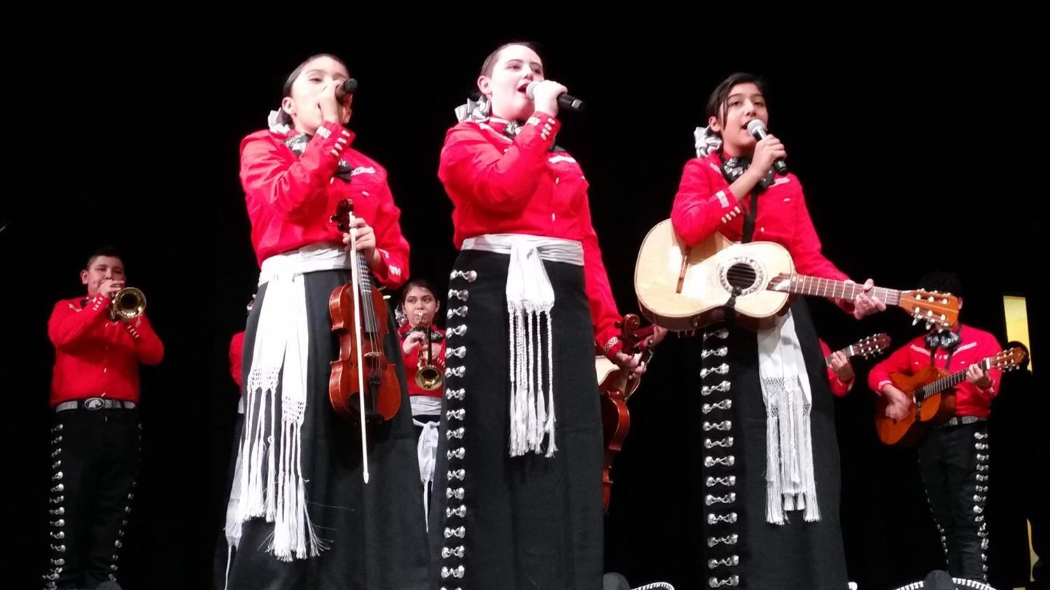 Manor ISD Mariachi students performing