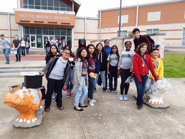 Manor ISD middle school students participating in last year's competition at Hutto Middle School