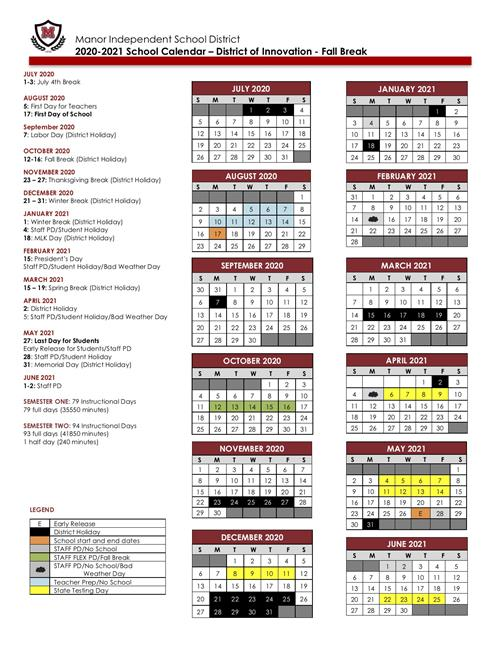 Texas Tech Calendar 2021-22 Manor ISD School Board approves 2020 2021 DOI – Fall Break School