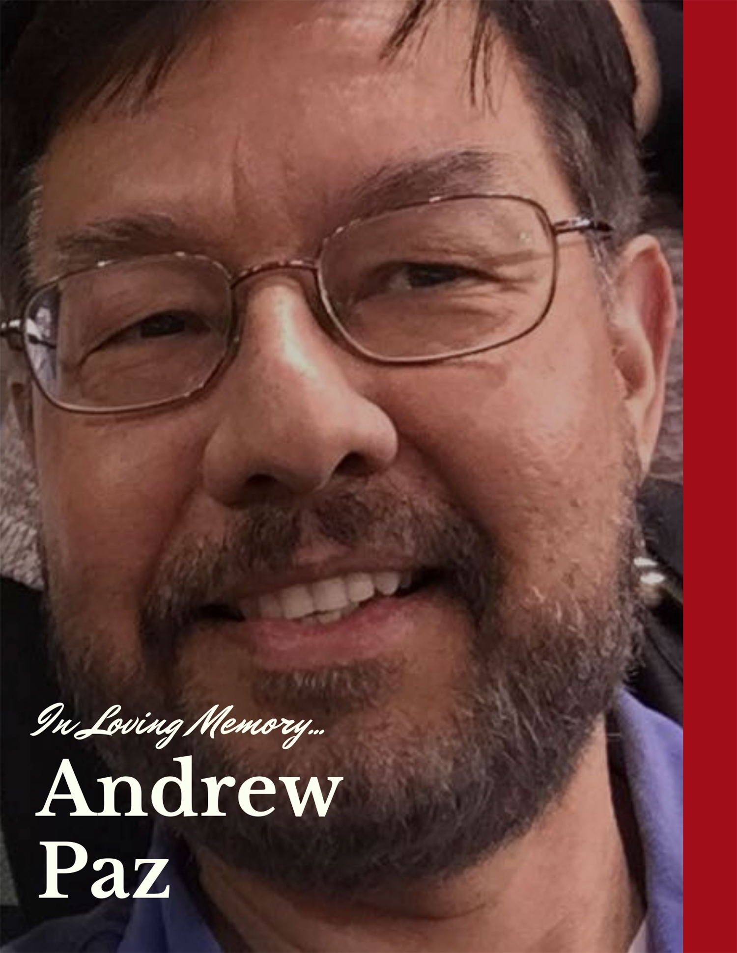 The Manor ISD Technology Department Shares The Loss of Mr. Andrew Paz