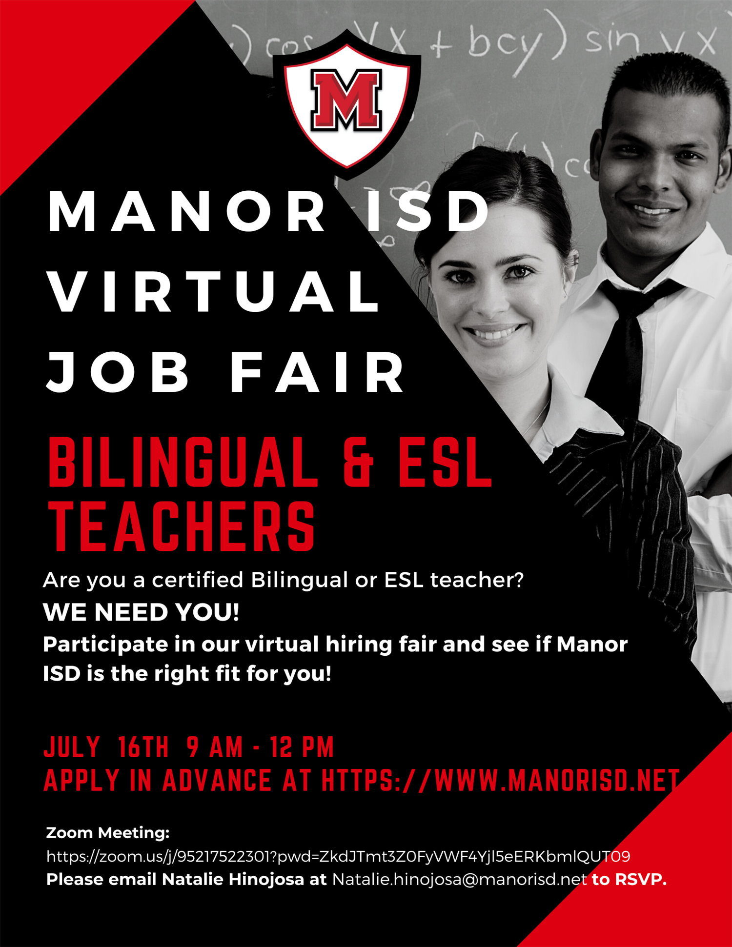 Manor ISD Virtual Job Fair