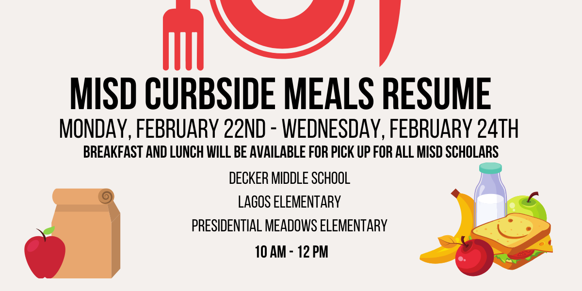 Manor ISD Food And Nutrition Services Will Resume Curbside Meal Service