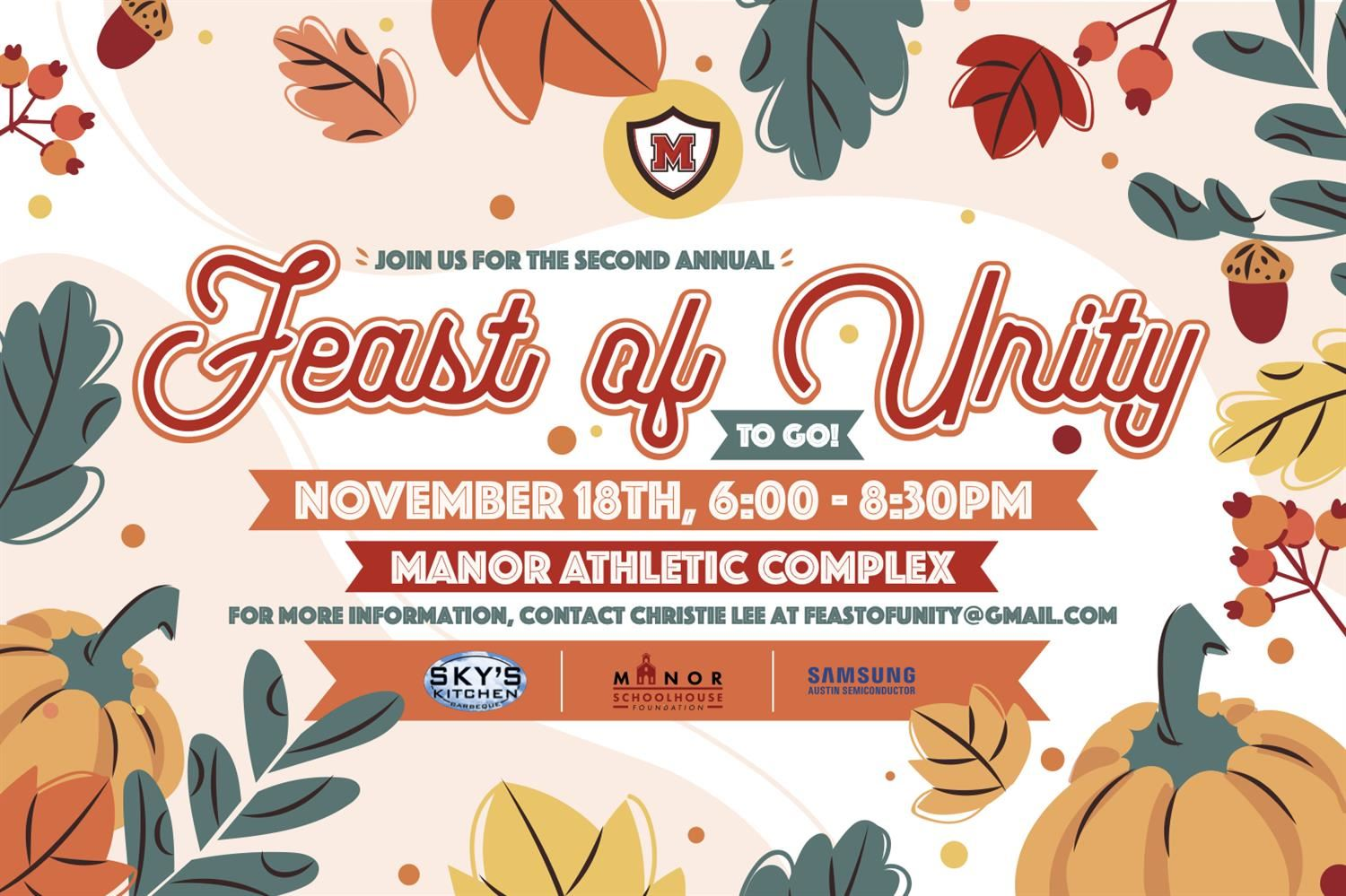 Manor ISD to Host Second Annual Feast of Unity To-Go November 18