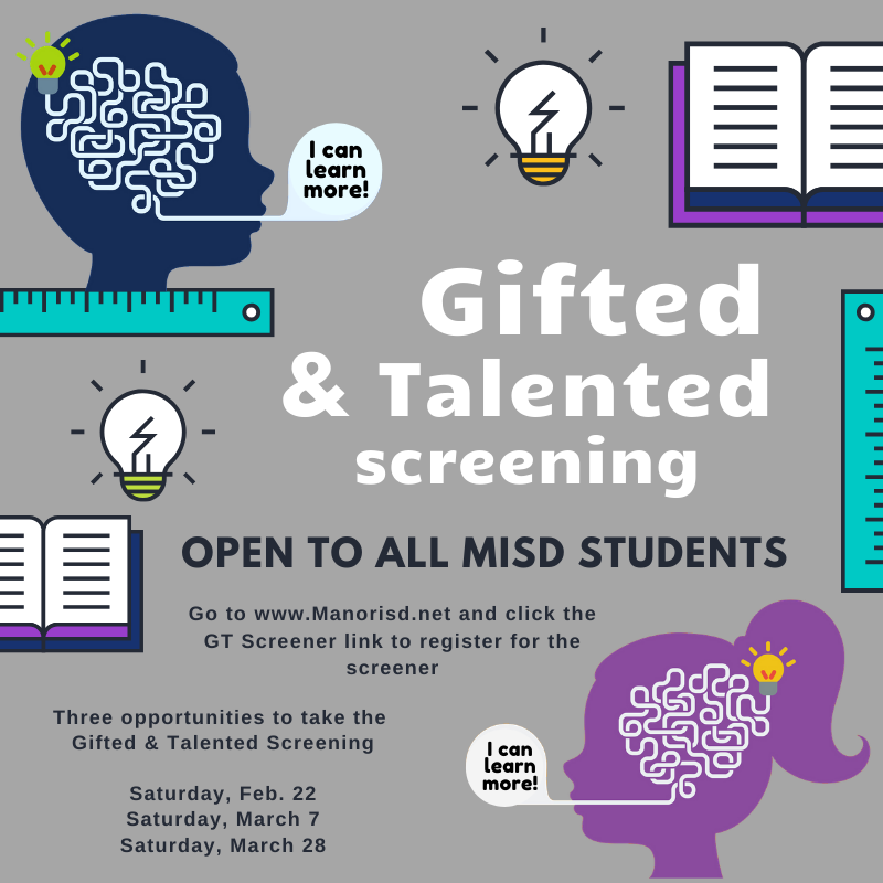 GT screener for all Manor ISD students