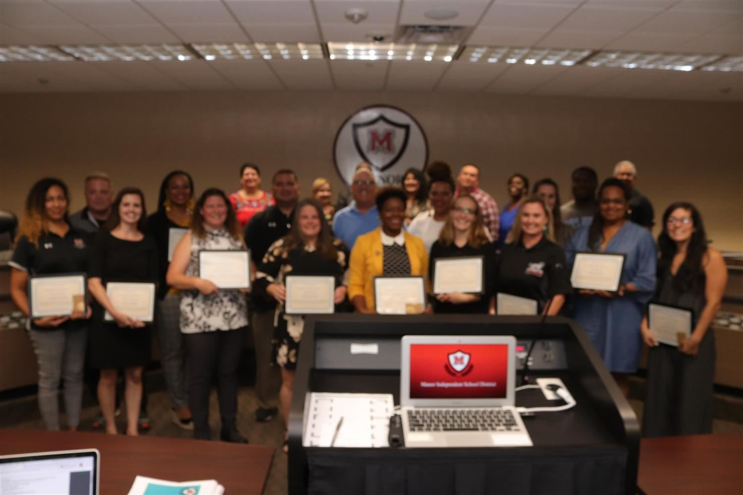 MISD Board of Trustees Recognize September Teachers of the Month
