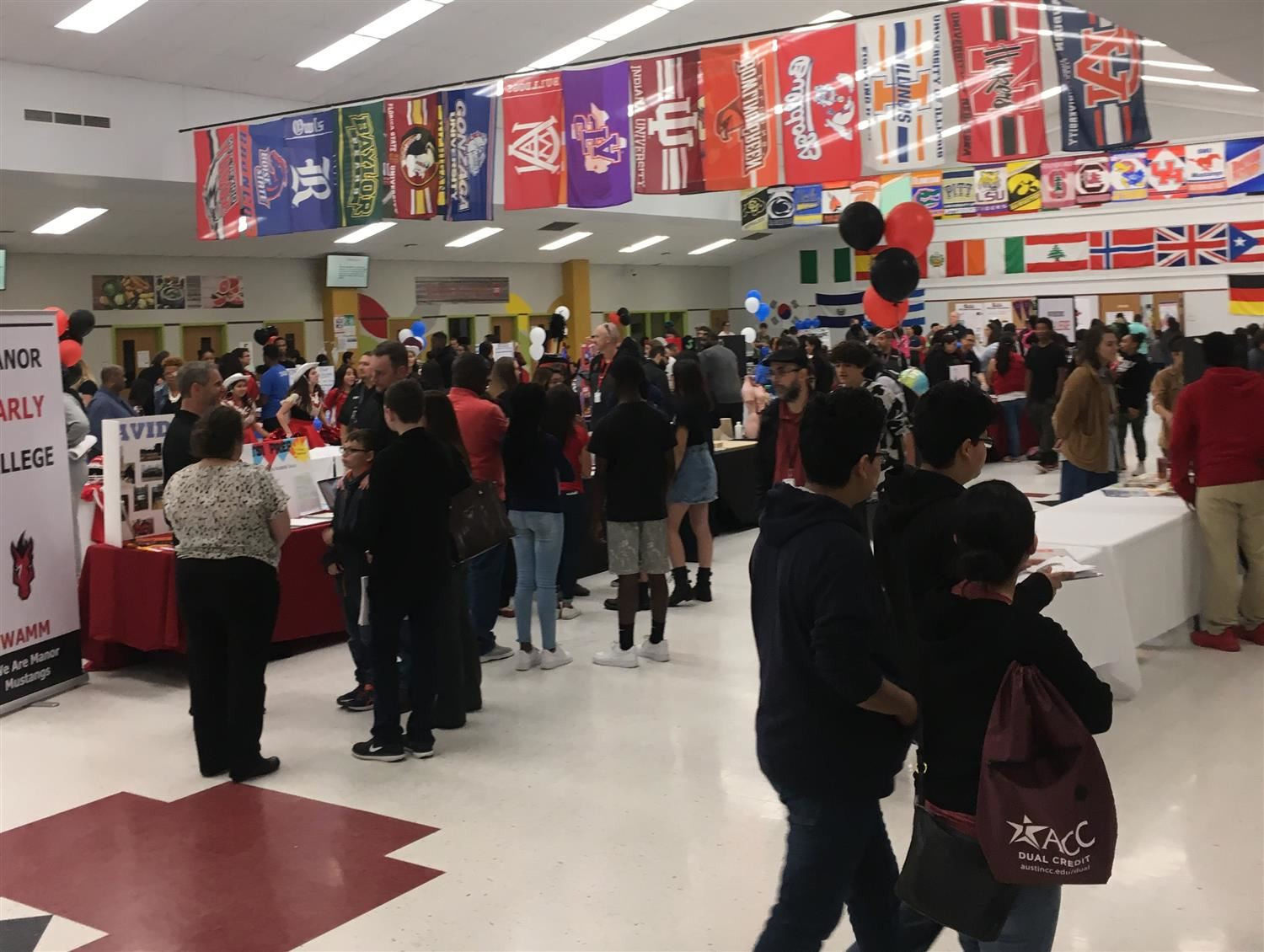 Students at Manor ISD's Choice Night