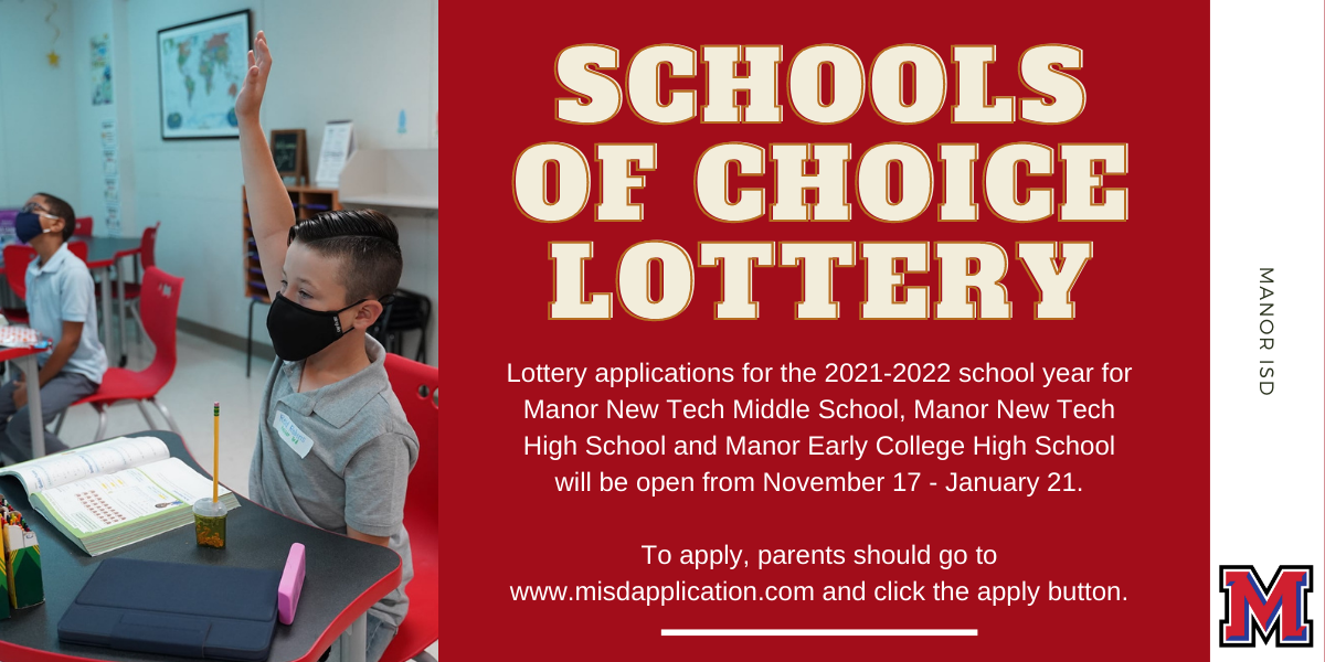 Schools of Choice Lottery Application Now Open