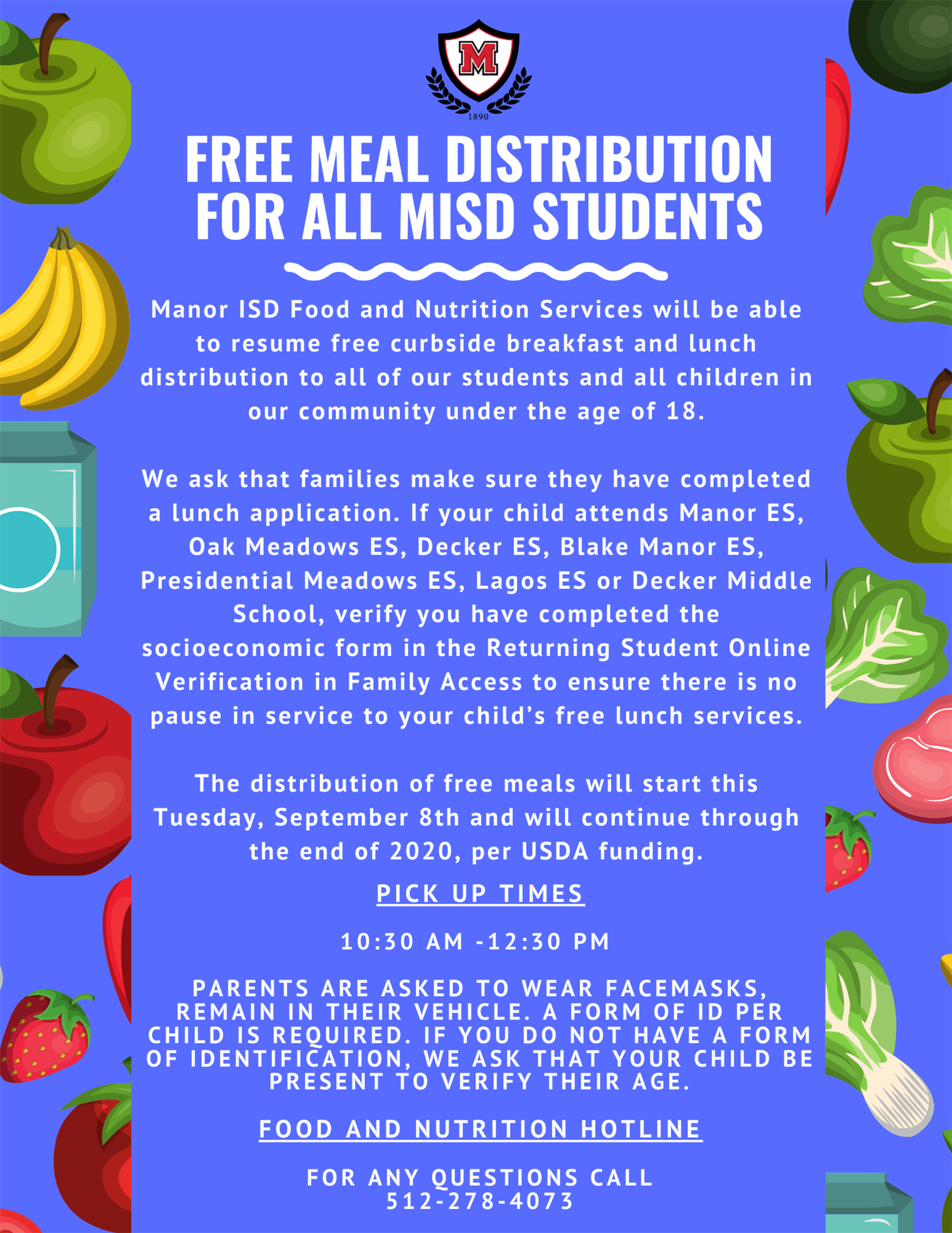 Manor ISD to Distribute Free Meals to All Students.png