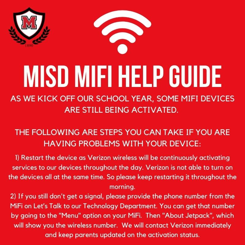 Manor ISD MiFi Help Guide