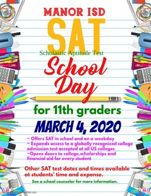 SAT School Day March 4, 2020