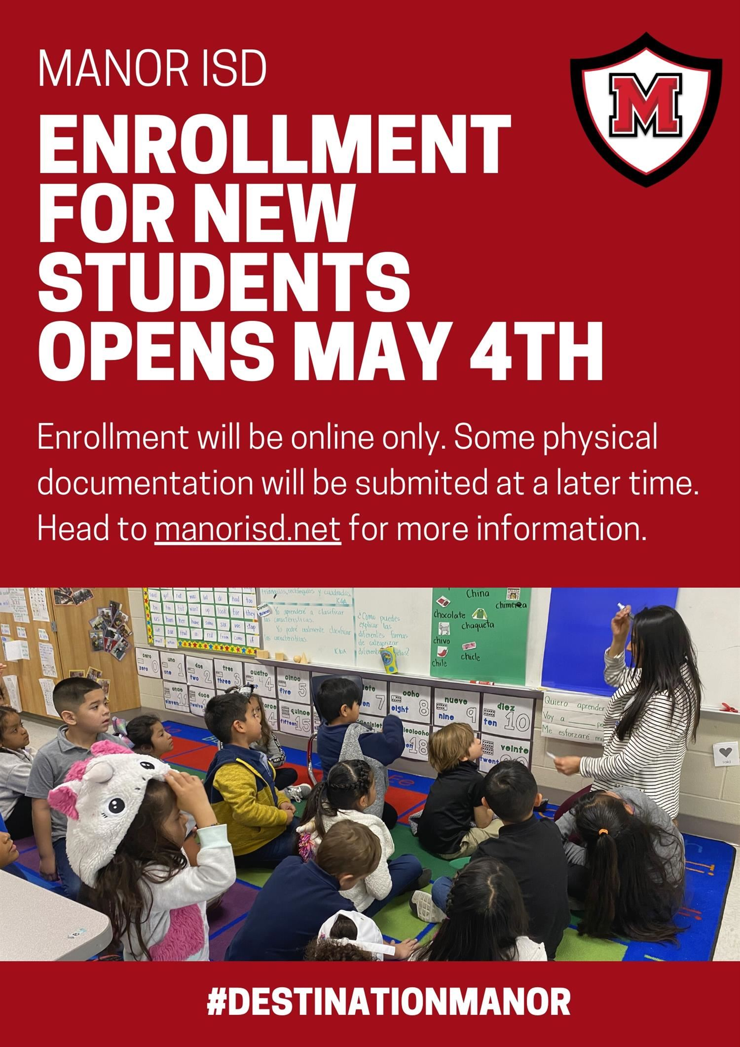 MISD News Student Enrollment Begins Online May 4th