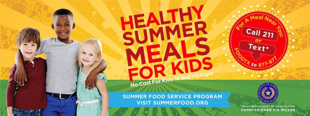 TDA Healthy Summer Meals Banner