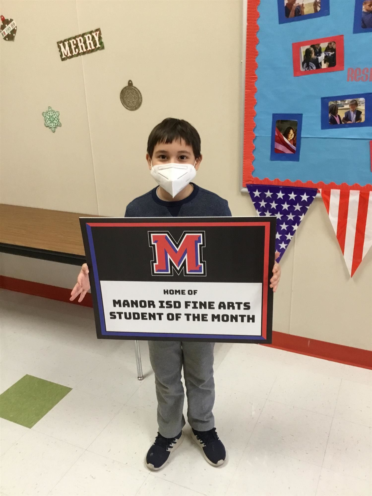 Congratulations to our Fine Arts Student of the Month, Rafael!