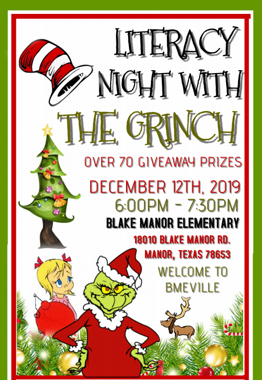 Literacy Night with the Grinch
