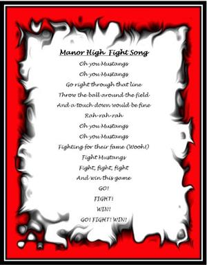 Manor High Fight Song
